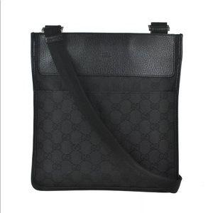Authentic GUCCI Black Canvas Crossbody bag